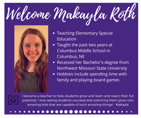 Bio of new teacher Makayla Roth