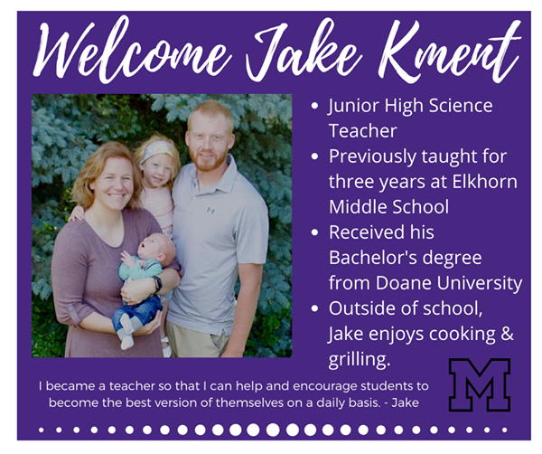 Bio of new teacher Jake Kment