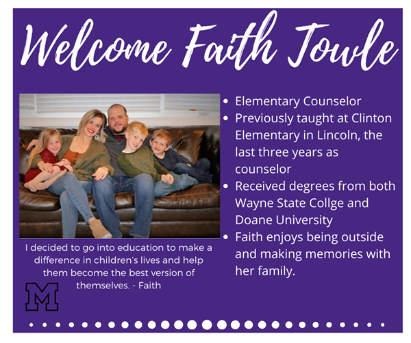 Bio of new teacher Faith Jowle